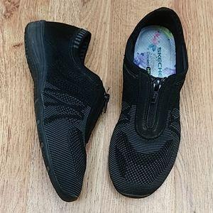 SKECHERS Memory Foam Zip Up Walking Shoes